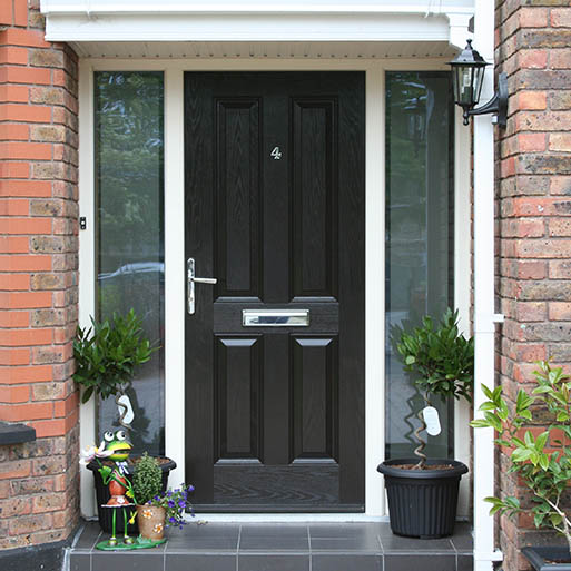 New entrance door in black