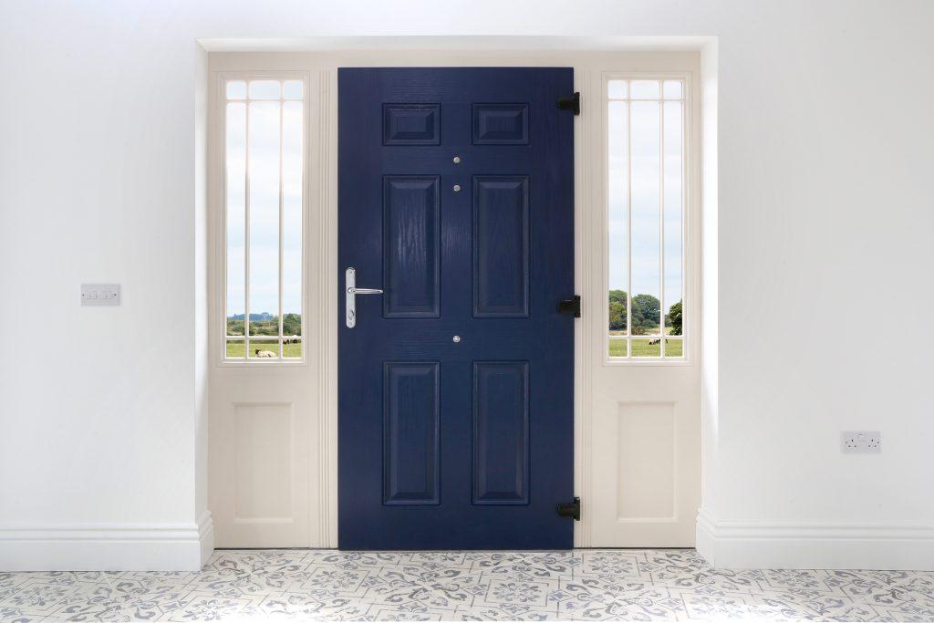 Grady Joinery, Kilcolman Composite Door in Cobalt Blue
