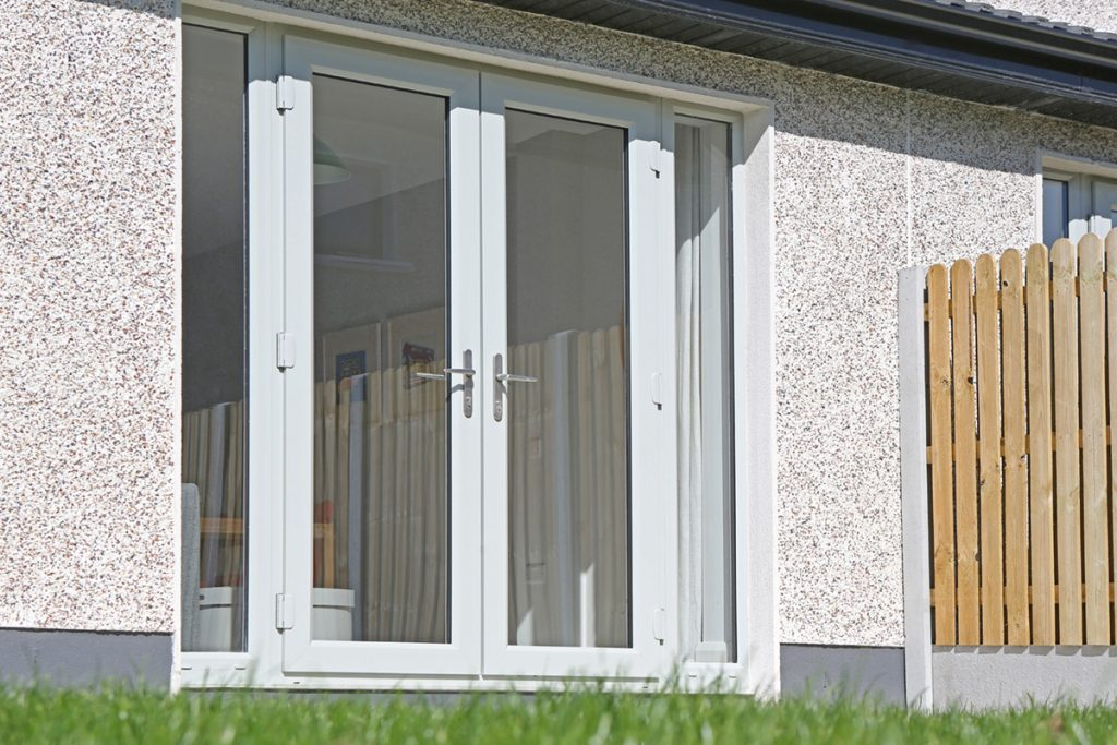 French Door in Agate Grey with two sidelights