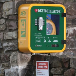 Public Access Defibrillator at Grady Joinery