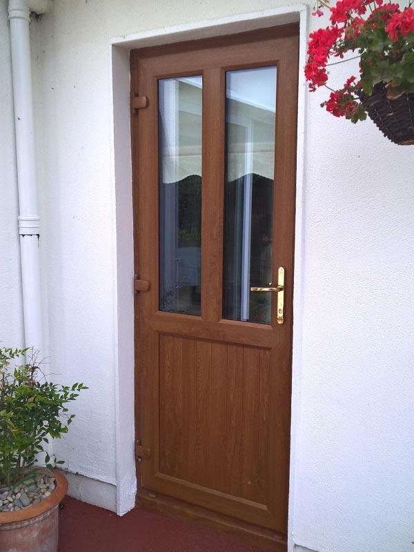 Wood finish front door